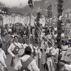 Baile de cintas.  Taganana. Tenerife.  Año 1940.