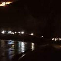Foto de anoche en la playa de Almaciga, donde está el control policial para que …