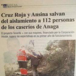Diario de Avisos sábado 25 de junio de 2016.  La gran labor de la CRUZ ROJA con …