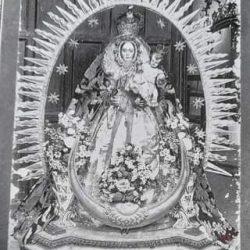 Verdadero y antiguo retrato de Ntra. Sra. De las Nieves patrona del pueblo de Ta…