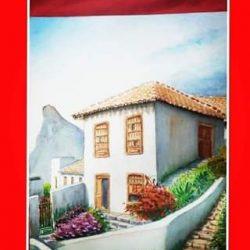 Taganana,  cuadro que se encuentra En Santa Clara,  Villa Clara, Cuba.