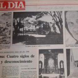 Periódico El día, Domingo 2 de agosto de 1987.  Taganana: Cuatro siglos de olvid…