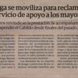 Periodico El Día 20 de abril 2021. Anaga se moviliza para reclamar el servicio d…