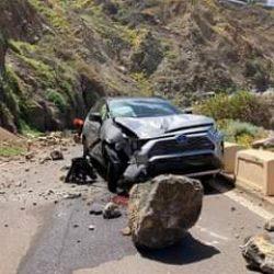 #INFOANAGA  PRECAUCIÓN: Se ha producido un desprendimiento de rocas a la altura…