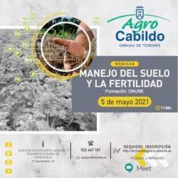 Nuevo #webinar gratuito sobre el 'Manejo del suelo y la fertilidad'.  Será el d…