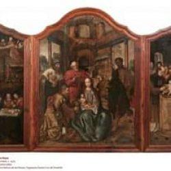 Tríptico Flamenco de la Adoración de los Reyes Magos siglo XVI. Iglesia de Tagan…