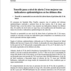 Tenerife pasa a Nivel 2