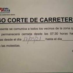 INFORMAMOS | Debido a las obras de aseguramiento del talud en la TF – 134, Almá…