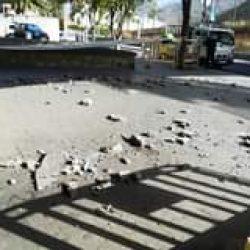 El puente de San Andrés en la carretera que va hacia Taganana, presenta desprend…