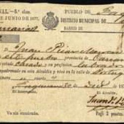 Documento histórico de Taganana.  Taganana 30 de abril de 1876.  Alcalde de Taga…