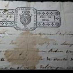 Documento histórico.  Mateo Suárez Alcalde Constitucional del lugar de Taganana …