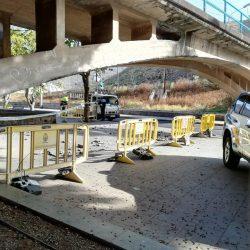 El mal estado del puente de Taganana obliga a restringir la circulación a vehículos pesados