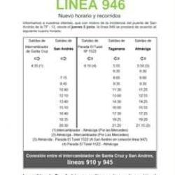 Nuevo horario y recorridos…  Línea 946 Taganana-Almaciga.  Línea 947 Santa Cru…