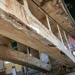 El viejo puente de San Andrés seguirá cerrado por obras hasta final de año