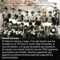CD Geneto, temporada 72-73, en el campo de fútbol de Taganana, por debajo del c…