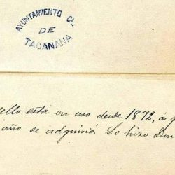 sello del ayuntamiento de Taganana, 1872.  ·