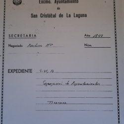 Excmo. Ayuntamiento San cristóbal de La Laguna.   Año 1848, segregación de ayunt…