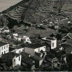 La calle el Portugal, Taganana, 1930.  La calle de los portugueses y la caña de …