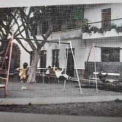 Parque infantil en la plaza de Taganana, año 1968.  ·