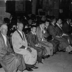 Taganana. Interior de la iglesia. 1967.  La hermandad del Santísimo Sacramento …