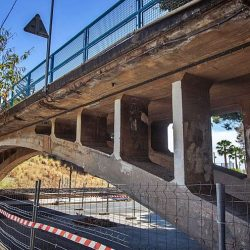 La plataforma militar, alternativa provisional al puente de San Andrés