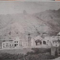 Foto de la iglesia de las Nieves en Taganana derruida, porque cedieron sus pared…