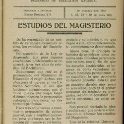 Eco del Magisterio Canario.  Periódico de Educación Nacional.  Estudios de magis…