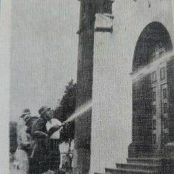 BOMBEROS VOLUNTARIOS FORMADO POR LOS VECINOS DE TAGANANA, AÑO 1969.  ·